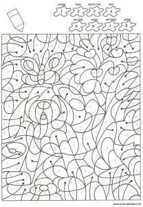 для детей с номерами цветов раскраски