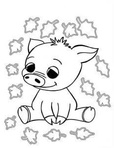 для малышей раскраска зверюшки