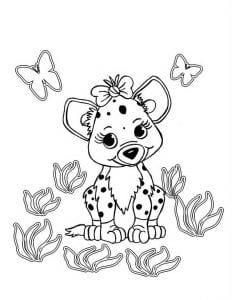 зверюшки для малышей раскраска