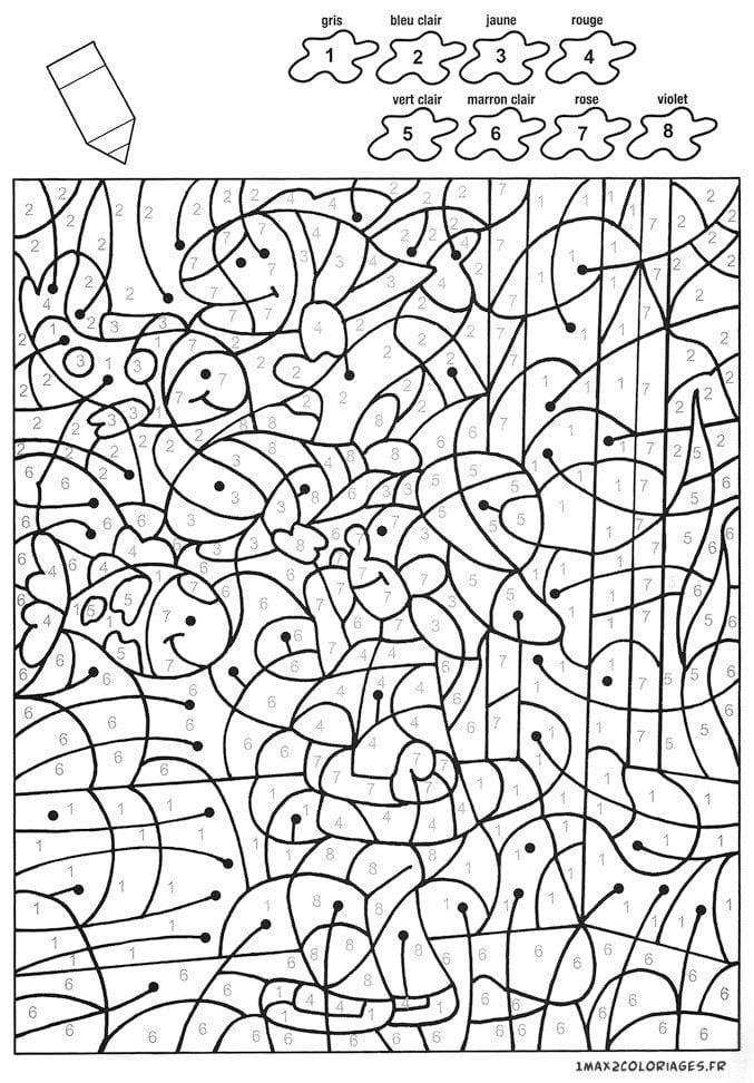 крупные раскраски по номерам для детей распечатать   Рисовака