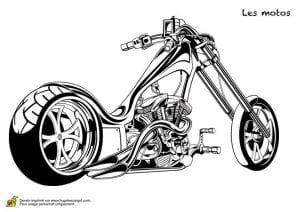 крутые мотоциклы раскраски