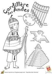 Национальный костюм Анды раскраска