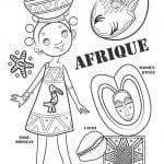 национальный костюм Африки раскраска