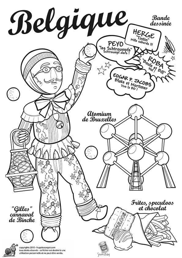 национальный-костюм-Бельгии-раскраска