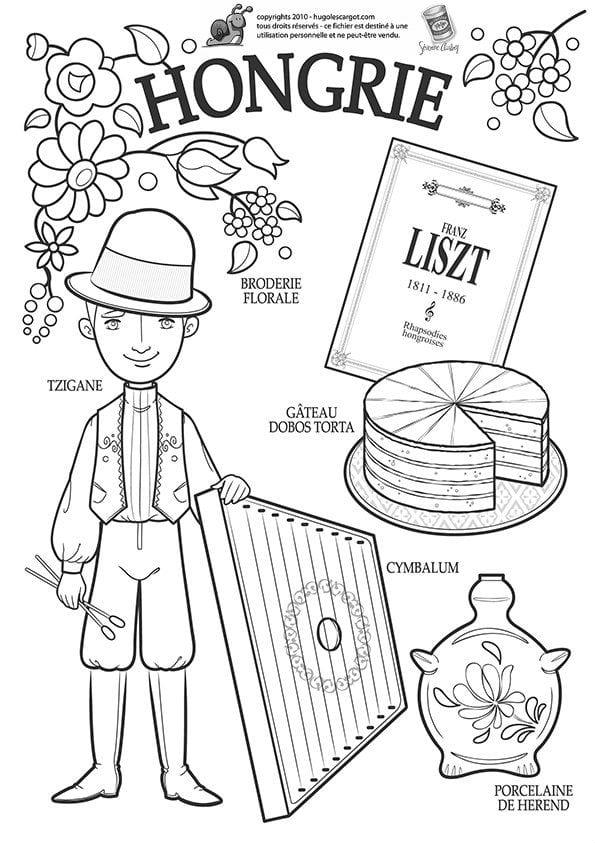 национальный-костюм-Венгрии-раскраска