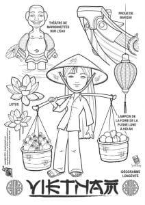 национальный-костюм-Вьетнама-раскраска