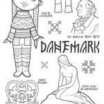 национальный-костюм-Дании-раскраска