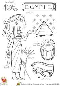 национальный-костюм-Египта-раскраска