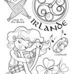 национальный костюм Ирландии раскраска