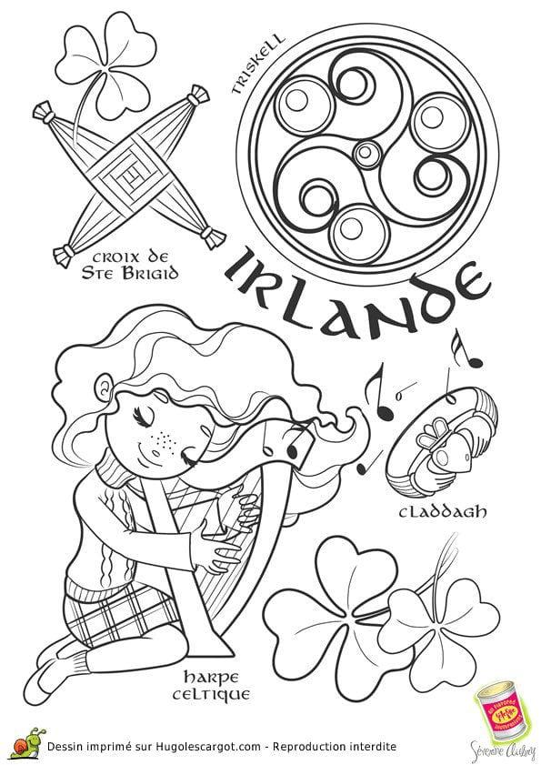 национальный-костюм-Ирландии-раскраска