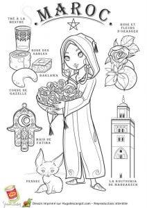национальный костюм Марокко раскраска