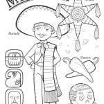 национальный костюм Мексики раскраска