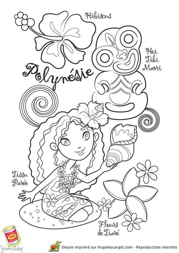 национальный костюм Полинезии раскраска