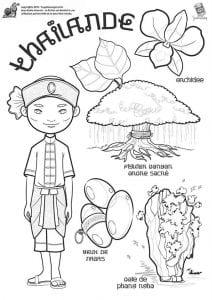 национальный костюм Таиланда раскраска