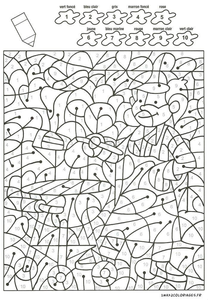 по номерам для детей распечатать крупные раскраски - Рисовака