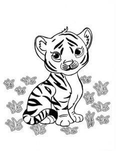 раскраска зверюшки для малышей