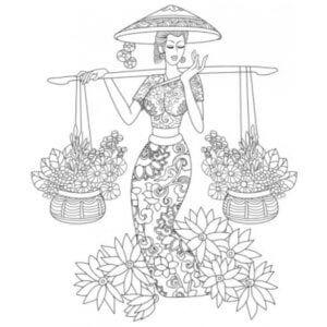 раскраска знак зодиака Весы 3