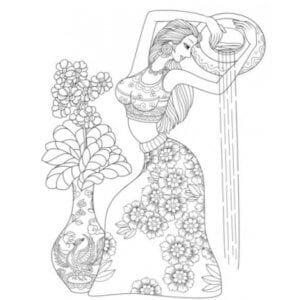 раскраска знак зодиака Водолей 2