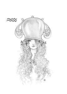 раскраска знак зодиака Водолей 4