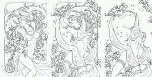 раскраска знак зодиака Дева 3