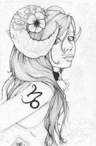 раскраска знак зодиака Козерог 5
