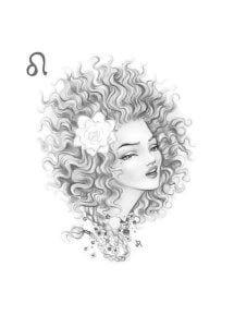 раскраска знак зодиака Лев 4