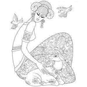 раскраска знак зодиака Овен 5