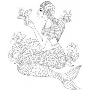 раскраска знак зодиака Рыбы 3