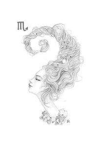 раскраска знак зодиака Скорпион 4