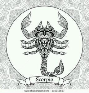 раскраска знак зодиака Скорпион 6
