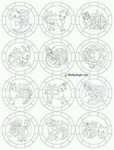 раскраски гороскоп