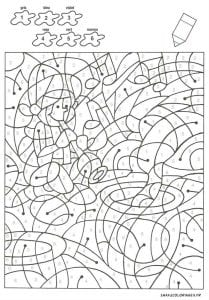 раскраски для детей с номерами цветов