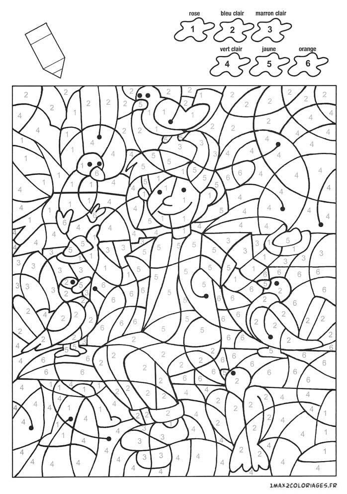 раскраски по номерам для детей скачать бесплатно - Рисовака