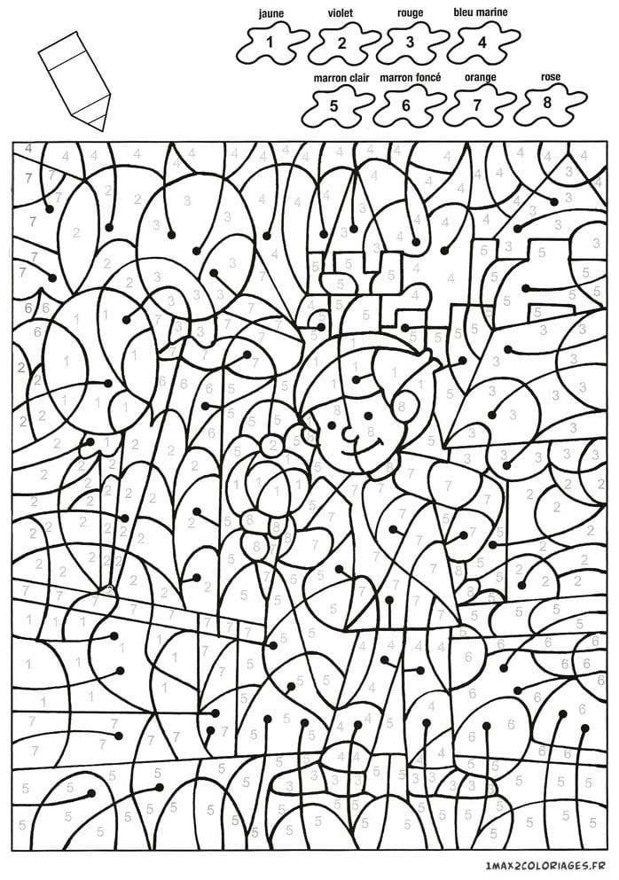 раскраски по номерам для детей скачать - Рисовака