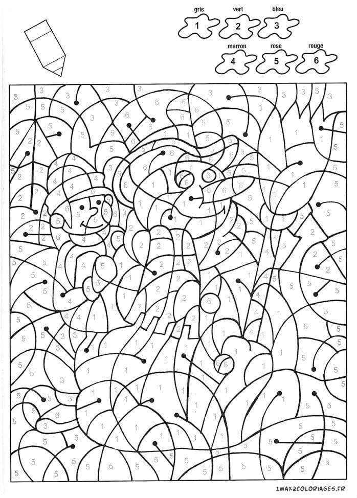 раскраски по номерам для детей