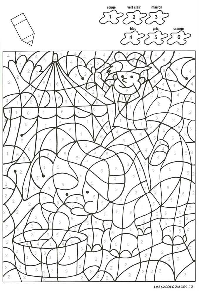 раскраски цифрам номерам детей рисовака