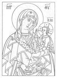 распечатать бесплатно раскраски библия православие 1