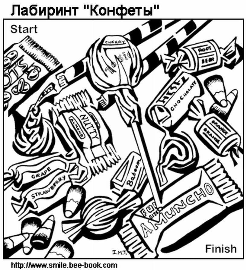 сложный-лабиринт-рисунок