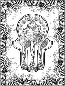 татуировки узоры раскраска