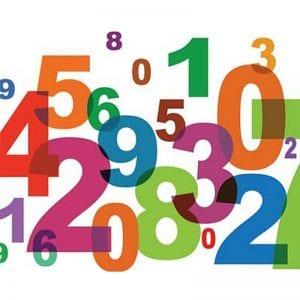 Цифры раскраски