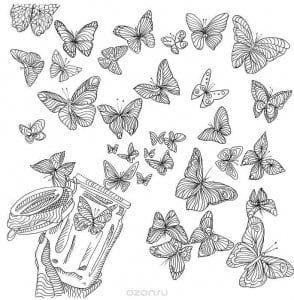 2 3 лет бабочка раскраска для детей
