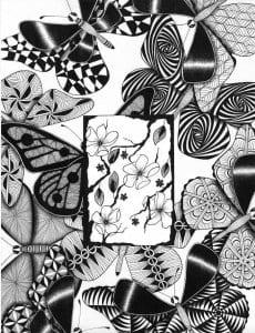 3 4 бабочки раскраски детей