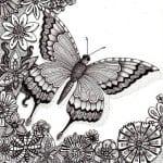 3 4 лет раскраска бабочка для детей