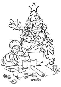 5 лет новый год раскраски детям 4 А4
