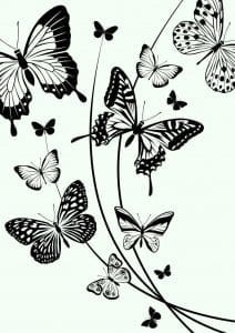 5 лет раскраска бабочка для детей