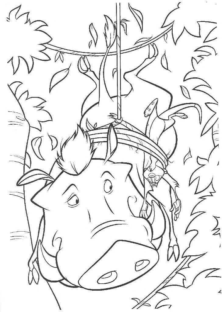 А4 бесплатно раскраска король лев распечатать