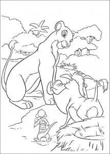 А4 бесплатно раскраски король лев