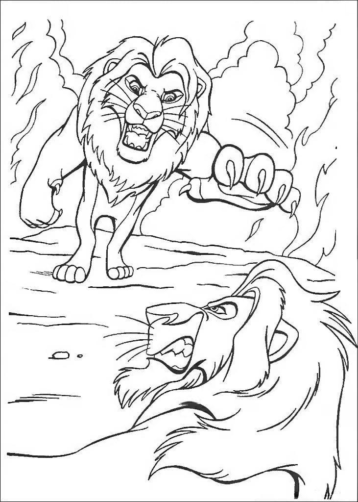 А4 король лев бесплатно раскраски