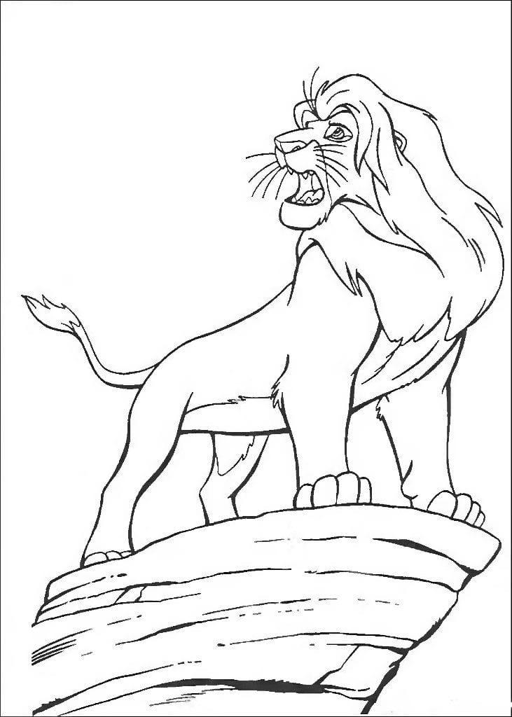А4 король лев раскраски для девочек