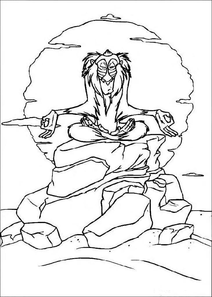 А4 король лев распечатать бесплатно раскраска